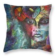 Madamoiselle By Reina Cottier Throw Pillow