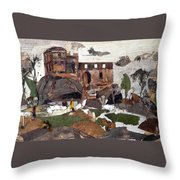 Madan Mahal Throw Pillow