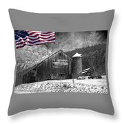 Made In America Red White And Blue Throw Pillow