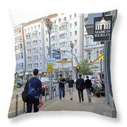 Made In Berlin Throw Pillow