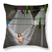 Made In China Baby Jesus Throw Pillow