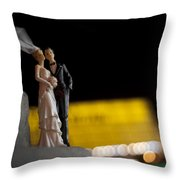 Made In China Bride And Groom Throw Pillow