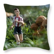Made In China Soccer Player Throw Pillow