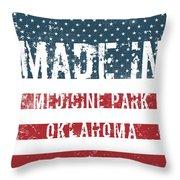 Made In Medicine Park, Oklahoma Throw Pillow
