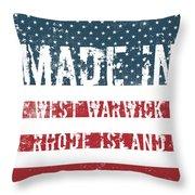 Made In West Warwick, Rhode Island Throw Pillow