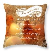 Made New - Verse Throw Pillow