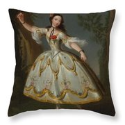 Mademoiselle Violette Dancing Throw Pillow