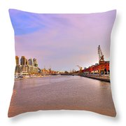Madero River Throw Pillow