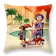 Madge Mary And Truffle Throw Pillow