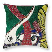 Madhubani  Throw Pillow