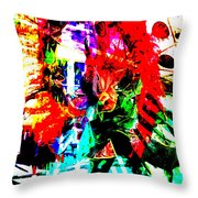Madi Gras Throw Pillow by Brian Roscorla