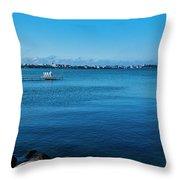 Madison Across Lake Mendota Throw Pillow