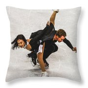 Madison Chock And Evan Bates Throw Pillow