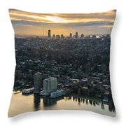 Madison Park And The Seattle Skyline Throw Pillow