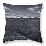 Madison Skyline - Black And White Throw Pillow