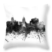 Madison Skyline Uswima09 Throw Pillow