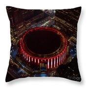 Madison Square Garden Aerial Throw Pillow