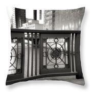 Madison Street Bridge - 2 Throw Pillow