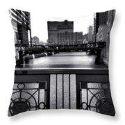 Madison Street Bridge - 3 Throw Pillow