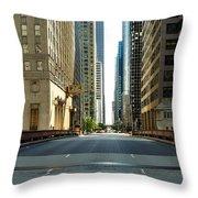 Madison Street Bridge - 4 Throw Pillow