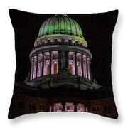 Madison Wi At Night Throw Pillow