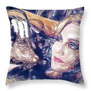 Madona Watercolor Throw Pillow