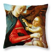 Madonna And Child 1470 Throw Pillow