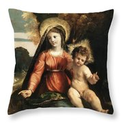 Madonna And Child 1525 Throw Pillow