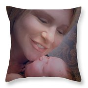 Madonna And Child 2 Throw Pillow by Kate Word