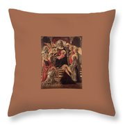 Madonna And Child Enthroned With Saints Fra Filippo Lippi Throw Pillow