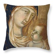 Madonna And Child Fragment  Throw Pillow