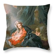 Madonna And Child Throw Pillow by Francois Boucher
