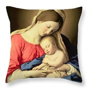 Madonna And Child Throw Pillow by Il Sassoferrato