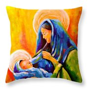 Madonna And Child Painting Throw Pillow