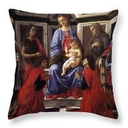 Madonna And Child With Six Saints Throw Pillow