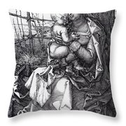 Madonna By The Tree 1513 Throw Pillow
