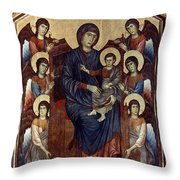 Madonna & Child In Majesty Throw Pillow by Granger