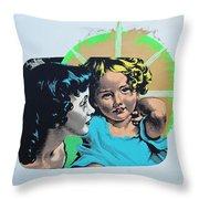 Madonna De Milo Throw Pillow