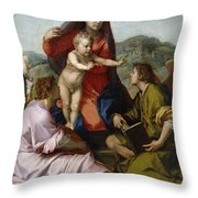 Madonna Della Scala. Virgin Of The Stairs Throw Pillow
