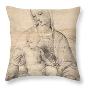 Madonna Of The Pomegranate Throw Pillow