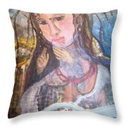 Madonna Of The Racket Throw Pillow