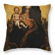 Madonna With Angels 1410 Throw Pillow