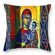 Madonna With The Child - My Www Vikinek-art.com Throw Pillow