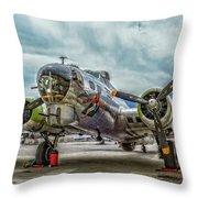 Madras Maiden B-17 Bomber Throw Pillow