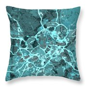 Madrid Abstract Map, Blue Traffic Map, Europe Throw Pillow