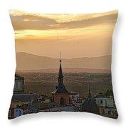 Madrid Mountain View Throw Pillow
