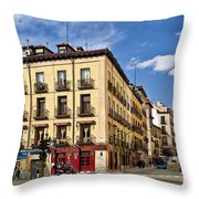 Madrid Spain Throw Pillow
