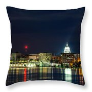 Madtown Skyline Throw Pillow
