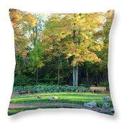 Mae Stecker Park In Shelby Township Michigan Throw Pillow