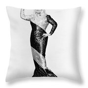 Mae West (1892-1980) Throw Pillow by Granger